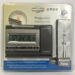 NEW La Crosse Radio Controlled Projection Alarm Clock Atomic Time WT-5720