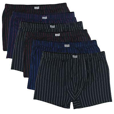 3 Pack 6 (6er Pack Herren Übergröße M L XL 2XL 3XL 4XL 5XL 6XL 7XL 8XL Unterhosen Streifen)