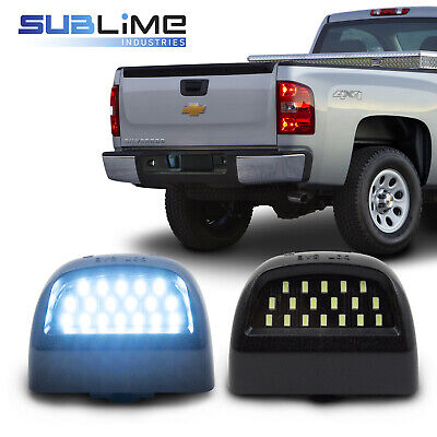 Ice Blue Color (2x LED Bumper License Plate Light Ice Blue Color for Chevy Silverado)