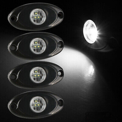 """4x 9W 2"""" White CREE LED Rock Light Bar Wheel RV For Jeep Truck SUV Off-Road Boat"""