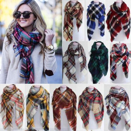 Scarf - Women's Blanket Oversized Tartan Scarf Wrap Shawl Plaid Cozy Checked Pashmina