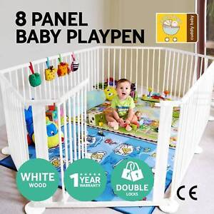 Baby Kids Toddler Deluxe White Wooden Playpen Divider Safety Adelaide CBD Adelaide City Preview