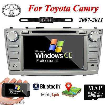 "For Toyota Camry Navigation Car DVD GPS Player Radio Stereo 8"" HD Screen+CAMERA"