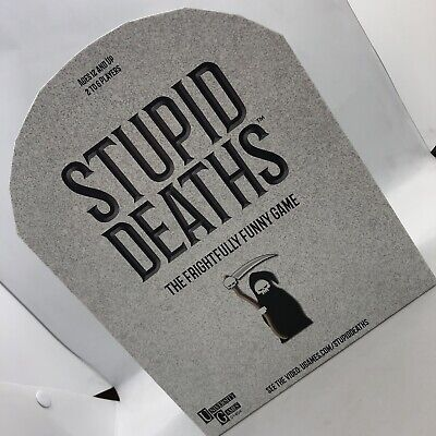 Stupid Deaths Game Great Halloween Party  Frightfully Funny 6 People Complete - Halloween Party Games Children