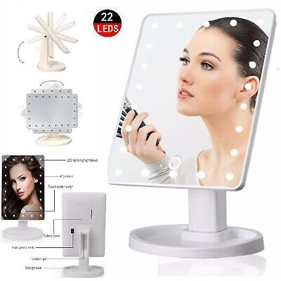MIRROR VANITY 22 LED 10X MAGNIFYING COSMETIC LIGHTS MAKEUP DRESSING TABLE TOUCH