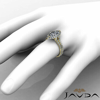 Halo Pave Set Marquise Cut Diamond Engagement Anniversary Ring GIA I SI1 2.36Ct 9