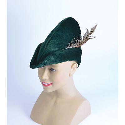 FAIRYTALE LEGEND SOFT FELT ROBIN HOOD HAT - mens fancy dress - Felt Robin Hood