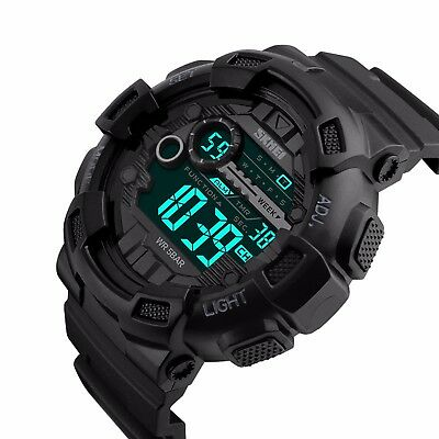 SKMEI Mens Tactical Digital LED Waterproof Military Sports Stopwatch Wrist Watch