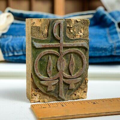 Christian Symbols Med 2x 2.75 Vintage Letterpress Printers Block