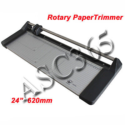 24in 620mm Rotary Photo Vinyl Paper Cutter Portable Trimmer Us Free Shipping