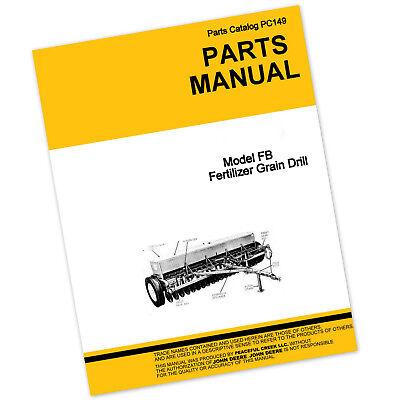 Parts Manual For John Deere Fb246c Fb177c Fb217c Fertilizer Grain Drill Catalog