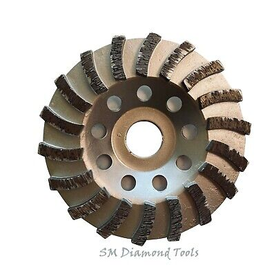 4 12 Turbo Cup Wheel With 18 Segment 78 Arbor Concrete Surface Grinding