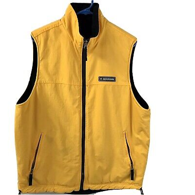 Abercrombie & Fitch Men's Med Reversible Vest ~ Fleece Lined ~ Yellow and Black