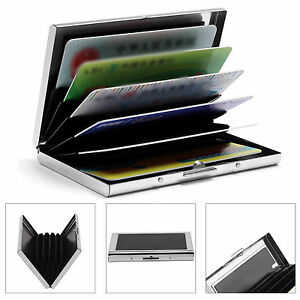 Waterproof Aluminum Metal Business ID Credit Card Pocket Holder Case Wallet Box