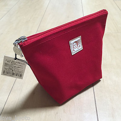 F/S Yojiya Ship Style Cosmetic Bag Red Color made in Japan from Kyoto Japan