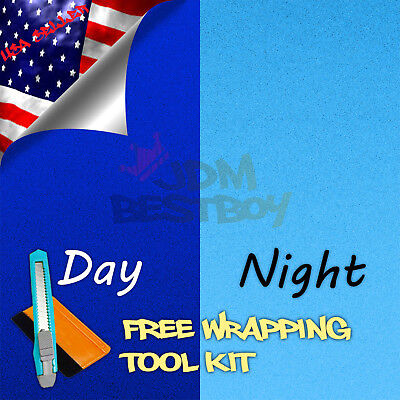 48x60 Reflective Blue Vinyl Wrap Sticker Decal Graphic Sign Car Adhesive Film