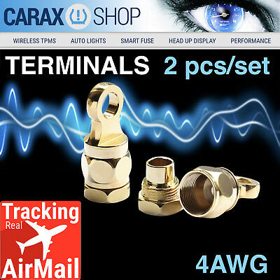 Ring Terminals 4 Awg 516 Wire Battery Starter Cable Eyelet Screw-in Type Set