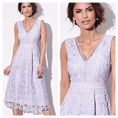 Kaliko @ Kaleidoscope Size 14 Lavender Lace Prom DRESS Wedding Occasion £170 Wow ()