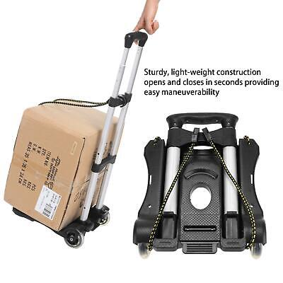 170lb Aluminum Foldable Cart Hand Truck Dolly Portable Utility Black Us Stock