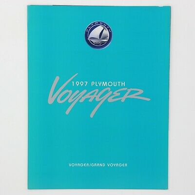 1997 Plymouth Voyager 8-Page Fold-Out Sales Brochure Dealership Literature 97
