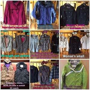 Women's size small winter and fall jackets