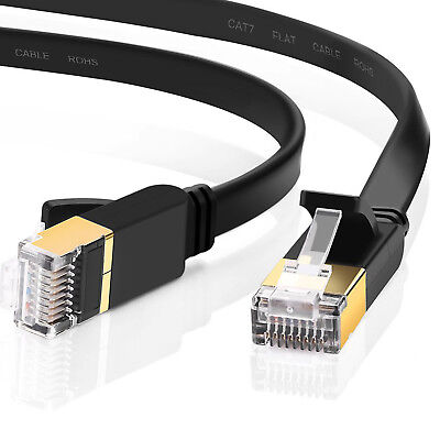 Cat 7 ethernet Cable Outdoor Networking Patch Gold RJ45 Gaming MAC Desk ADSL - Cat Desk