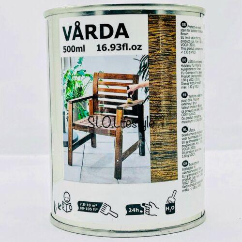 NEW IKEA VARDA 17oz BROWN Wood Stain OUTDOOR USE Patio Furniture