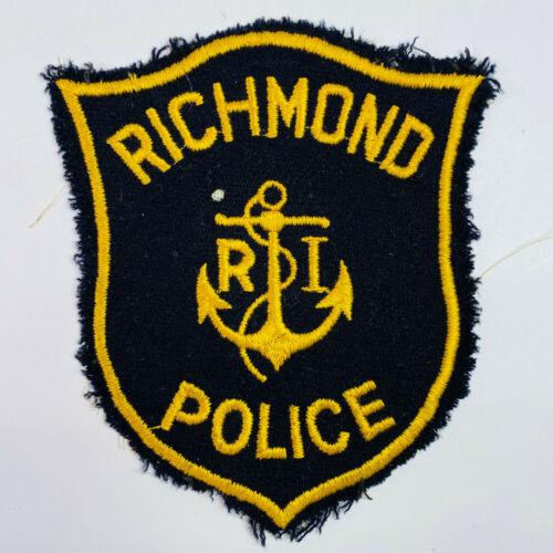 Richmond Police Washington County Rhode Island RI Vintage Patch (A1)