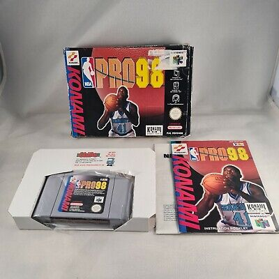 N64 NBA pro 98 PAL Very Rare Boxed Complete With Manual And Insert Nintendo 64