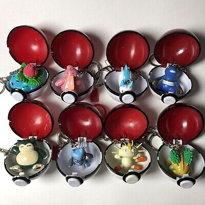 Nintendo Pokemon Basic Fun Pokeball Keychain Figures YOU PICK ONE