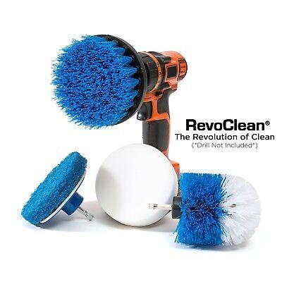 Purpose Scrub Brush (RevoClean Ultimate 4 Piece Scrub Drill Brush Multi-Purpose Deep Cleaning)