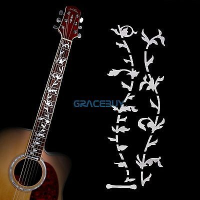 Tree Of Life Guitar Bass Inlay Sticker Fretboard DIY Decoration Markers Silver (Electric Guitar Decorations)