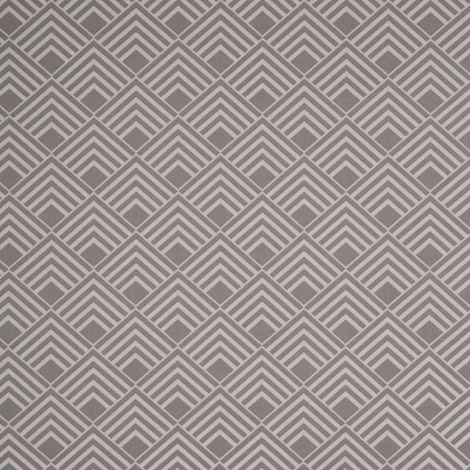 Stoff Baumwolle Swafing Leona beschichtet, Quadrate, grau, 150 cm