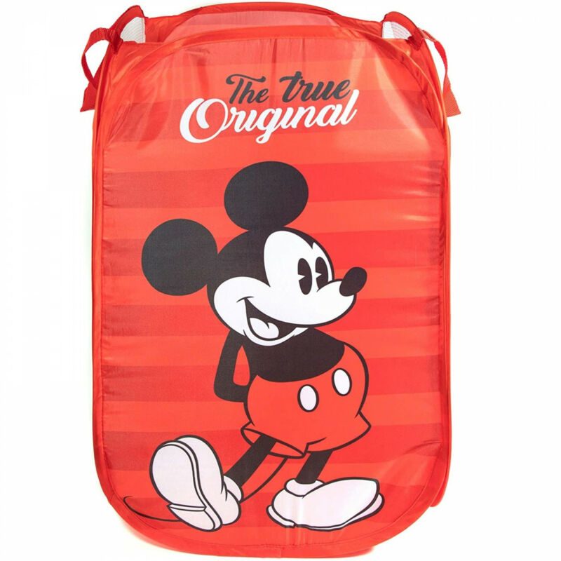 Mickey Mouse Pop Up Laundry Hamper Red