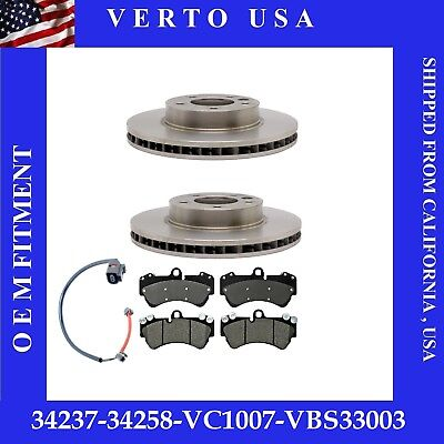 Front Brake Rotors , Ceramic Pads For Porsche Cayenne  Volkswagen Touareg