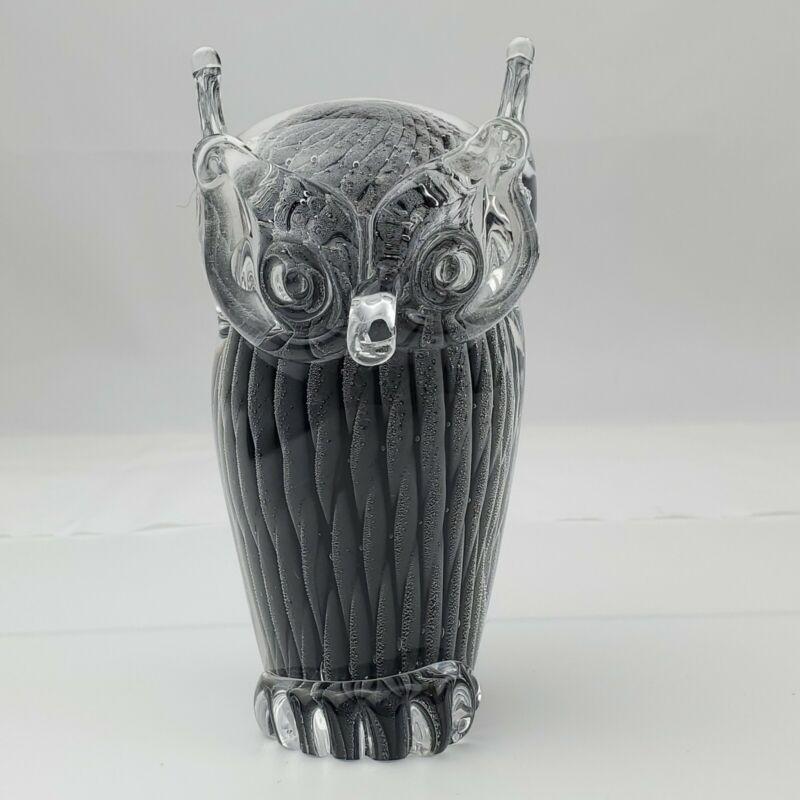 VTG Murano Art Glass OWL V. NASON Italy Venetian Handmade Signed Bird Italian EC