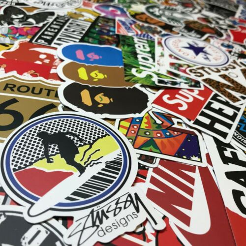 300 Random Skateboard Stickers Vinyl Laptop Luggage Decals Dope Sticker Lot Mix