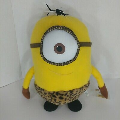 Despicable Me Minion Plush Stuart 15 inch One Eye jungle leopard print outfit - Despicable Me Minion Outfit