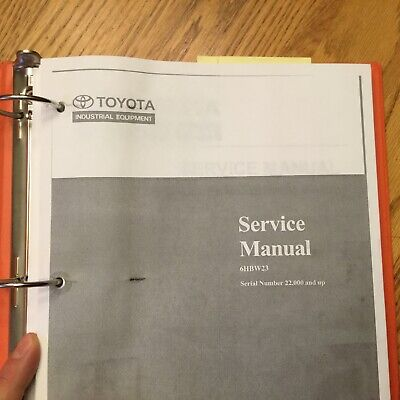 Toyota 6hbw23 Electric Pallet Walkie Service Shop Repair Manual Fork Lift Truck