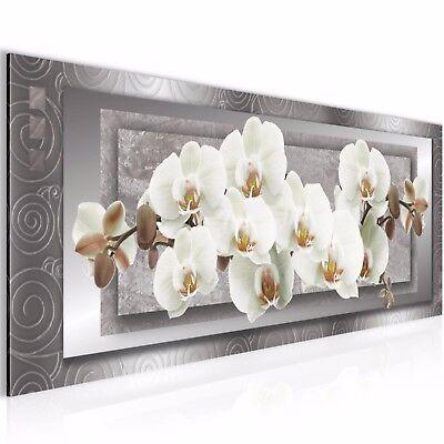 Bild Bilder Wandbild XXL 100x40 Blumen Orchideen - Kunstdruck Leinwand aus Vlies