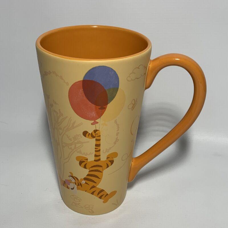 "Disney Store Tigger Winnie the Pooh Tall Orange Coffee Latte Mug Cup  6"" RARE"