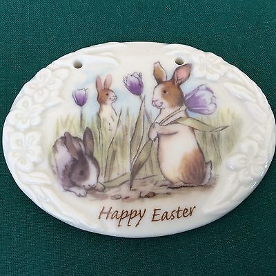 HAPPY EASTER Longaberger Basket Tie On NEW Bunny Spring Crocus