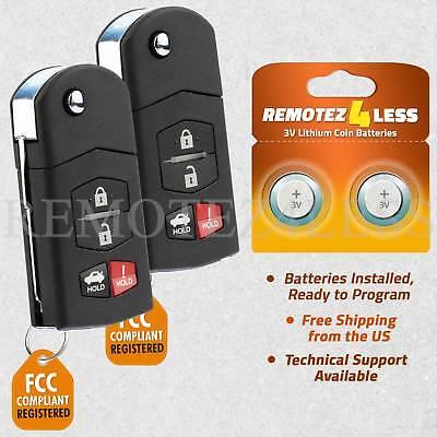 2 For 2005 2006 2007 2008 2009 2010 Mazda 6 Keyless Entry Remote Car Key Fob