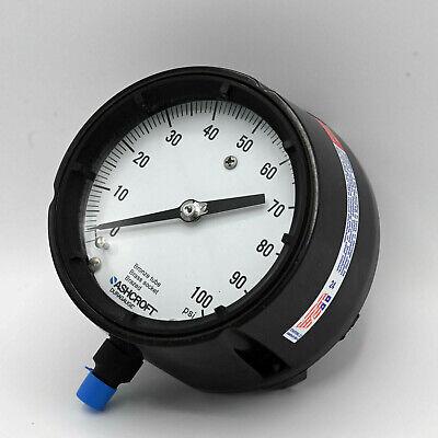 Ashcroft Duragauge 45-1279-as-02l-100 Pressure Gauge 4-12 100 Psi Bronze Tube