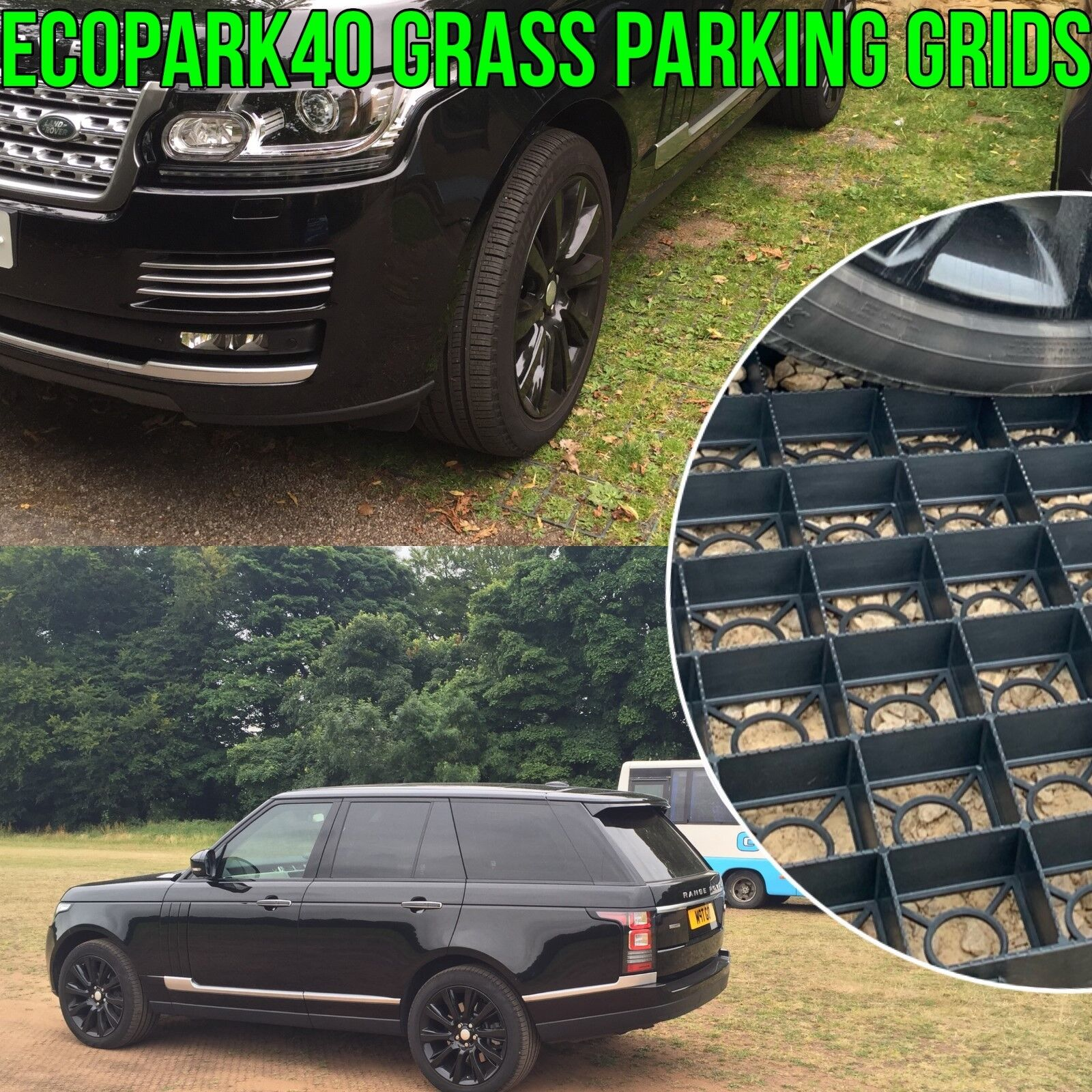 GRASS GRID PARKING REINFORCED PLASTIC PERMEABLE DRIVEWAY ECO PAVING GRID ECODECK