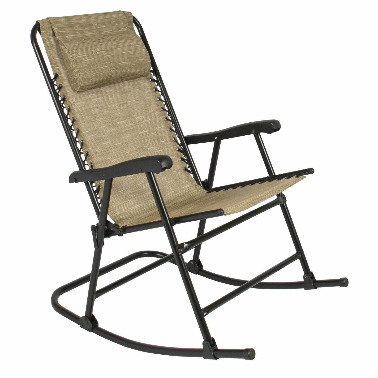 Folding Rocking Chair Foldable Rocker Outdoor Patio Furnitur