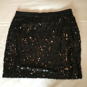 New Black sequin mini pencil skirt with strechty waist band