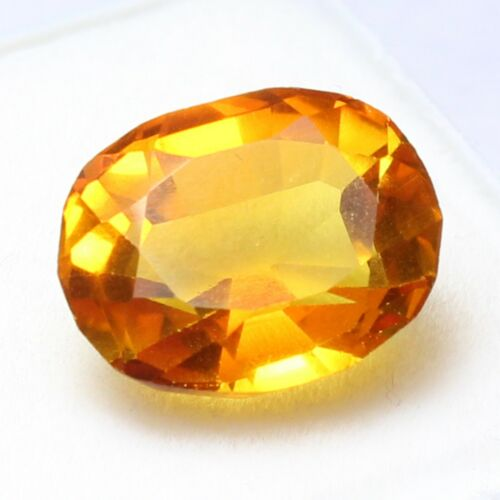 Certified UNHEATED 7.05 Ct Natural Ceylon Champagne Sapphire Loose Gemstone