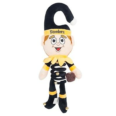 Pittsburgh Steelers Hanging Elf Door Hanger Decoration Springy Bells Christmas ()