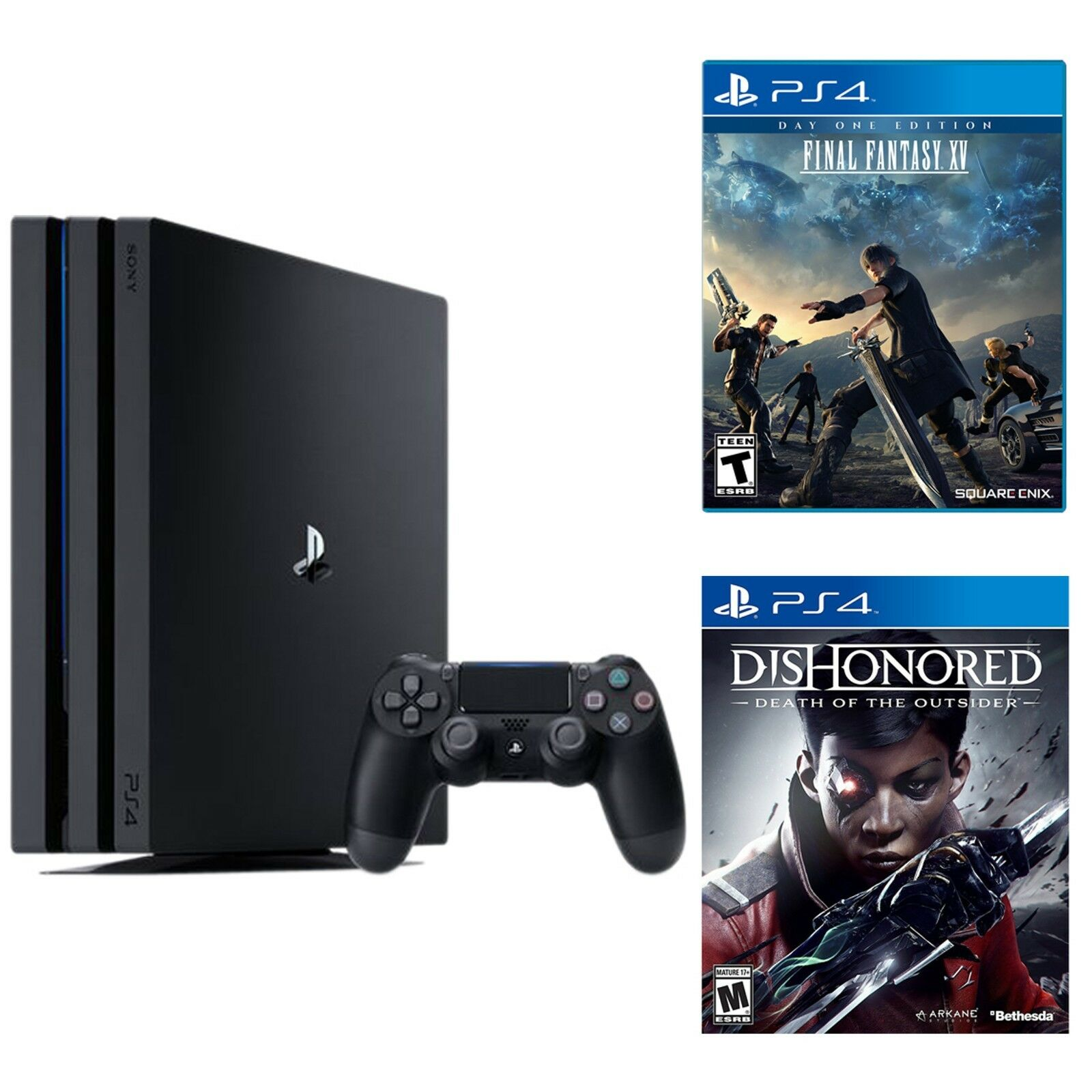 Playstation-4-Pro-1TB-Console----Dishonored--Death---Final-Fantasy-XV